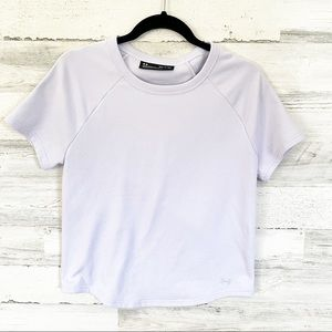 UNDER ARMOUR French Terry Short Sleeve Lilac